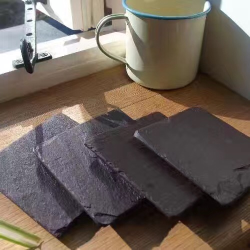Black Cheese Slate Plate