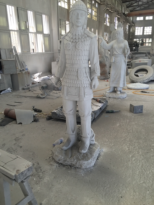 Chinese White Marble Sculpture