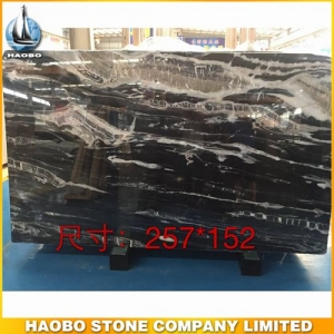 Polished Black Marble Slab